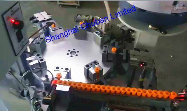 White Plastic Part Inserting Machine
